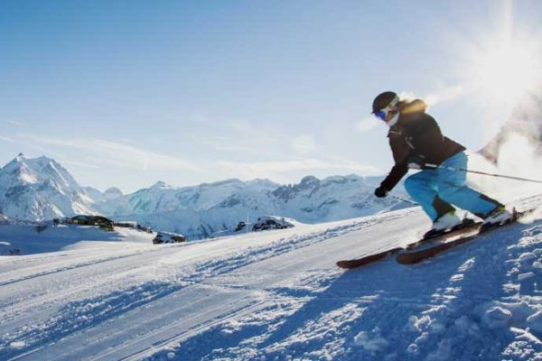 ski resorts blue slope