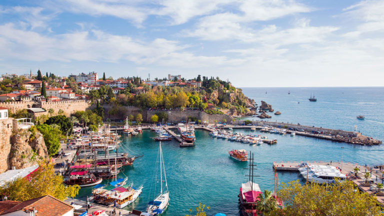 Turkish citizenship Antalya harbour