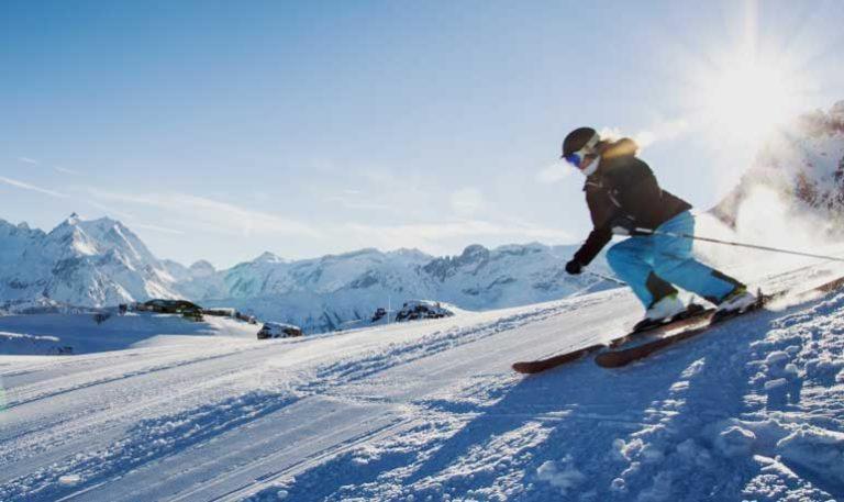 ski resorts blue slope